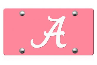 DWD® - Alabama A Logo on Pink Laser Cut License Plate