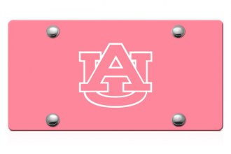 DWD® - Auburn AU Logo on Pink Laser Cut License Plate