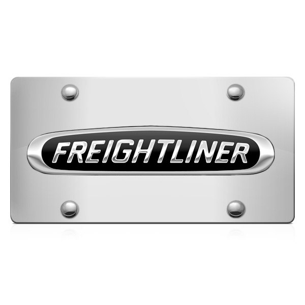 DWD® - 3D Freightliner Logo on Chrome Stainless Steel License Plate