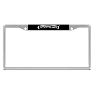 DWD� - Freightliner Logo on Chrome License Plate Frame