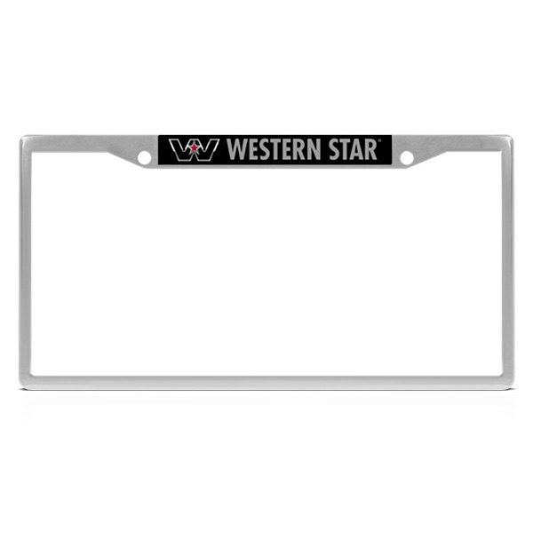 DWD® - Western Star Logo on Chrome License Plate Frame
