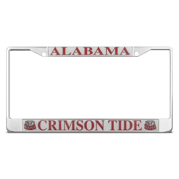 DWD® - Alabama Crimson Tide Logo on Chrome License Plate Frame