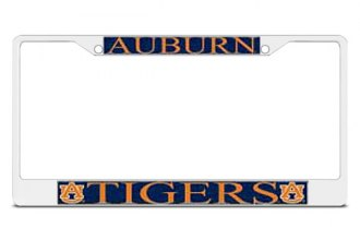 DWD® - Auburn Tigers Logo on Chrome License Plate Frame