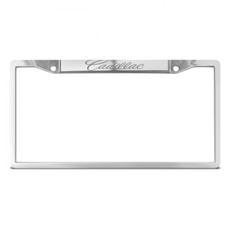 DWD® - Cadillac Logo on Chrome License Plate Frame
