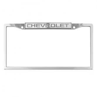 DWD® - Chevy Logo on Chrome License Plate Frame (Top)