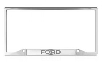 DWD® - Ford Logo on Chrome License Plate Frame