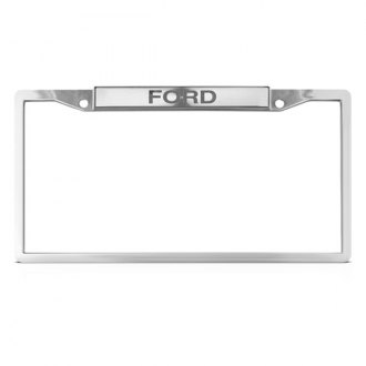 DWD® - Ford Logo on Chrome License Plate Frame (Bottom)