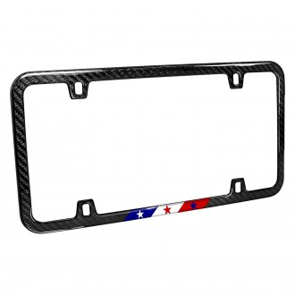 iPickimage® - Slim License Plate Frame with USA American Flag in Sports Stripe