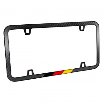iPickimage® - Slim License Plate Frame with German Flag in Sports Stripe