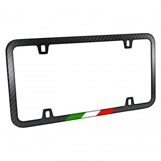 iPickimage® - Slim License Plate Frame with Italy Flag in Sports Stripe