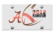 DWD� - Alabama 2012 National Champions Logo on Silver Laser Cut Plexi Plate