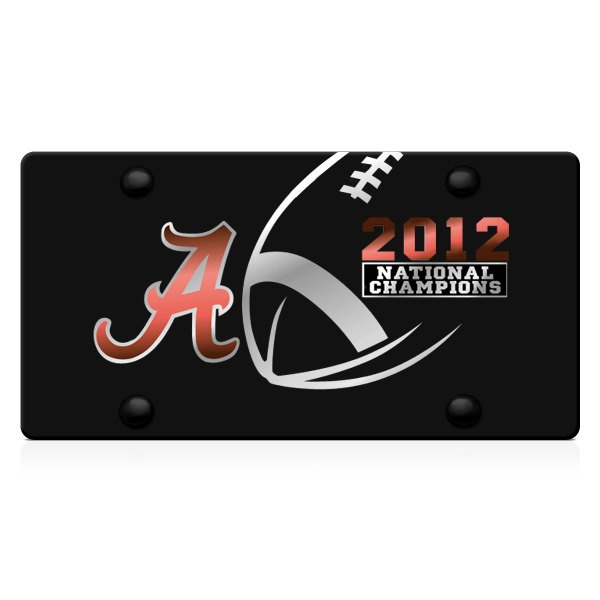 DWD® - Alabama 2012 National Champions Logo on Black Laser Cut Plexi Plate
