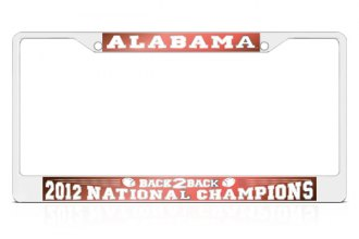 DWD® - Back2Back National Champions Logo on License Plate Frame