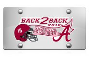 DWD� -  Back2Back National Champions Vinyl Decal Silver Plate