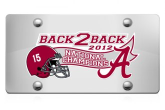 DWD® -  Back2Back National Champions Vinyl Decal Silver Plate