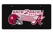 DWD� -  Back2Back National Champions Vinyl Decal Black Plate
