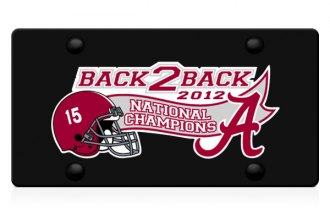 DWD® -  Back2Back National Champions Vinyl Decal Black Plate