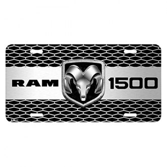 iPickimage® - 3D RAM 1500 Truck Logo on Grille Graphic Aluminum License Plate