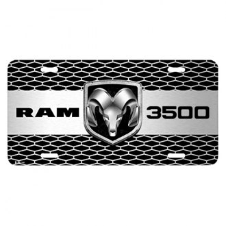 iPickimage® - 3D RAM 3500 Truck Logo on Grille Graphic Aluminum License Plate
