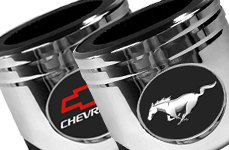 DWD Chrome Piston Can Coozie: Mustang, Chevy