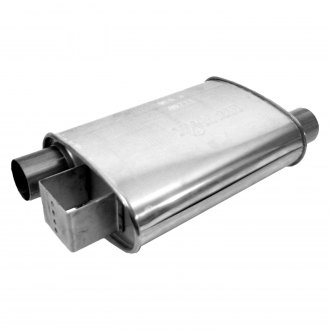 DynoMax® - Ultra Flo™ Polished Offset - Offset Stainless Steel Oval Muffler