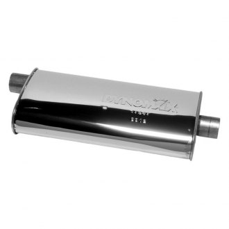 DynoMax® - Ultra Flo™ Polished Offset - Center Stainless Steel Oval Muffler