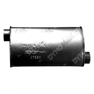 DynoMax® - Super Turbo™ Offset-Offset Aluminized Steel Oval Muffler