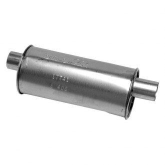 DynoMax® - Super Turbo™ Offset-Offset Aluminized Steel Round Muffler