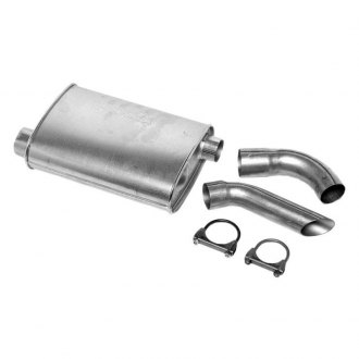DynoMax® - Super Turbo™ Offset-Offset Aluminized Steel Oval Driver Side Muffler