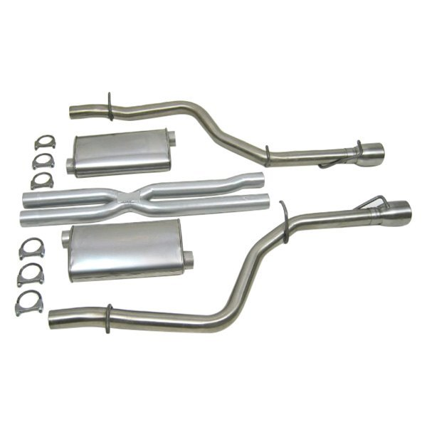Dynomax® Super Turbo™ Aluminized Steel Dual Catback Exhaust System: Plete Exhaust System At Woreks.co