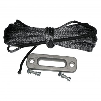 "Eagle Plow® - 3/16"" 2,500 lbs Winch Rope and Aluminum Hawse Set"