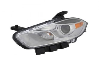 Eagle® - Replacement Headlight with Halogen Lights and Black Trim