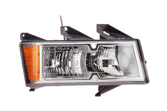 Eagle® GM325-B101R - Passenger Side Replacement Headlight with Chrome Housing