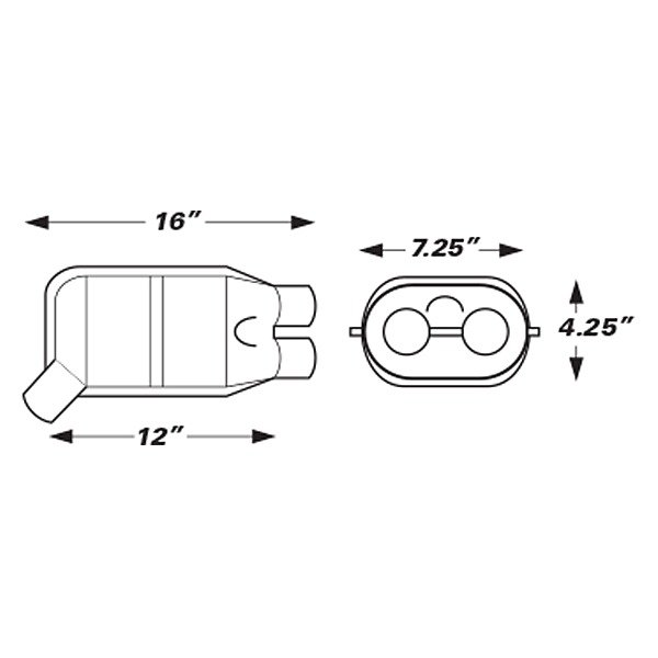 Eastern® - Catalytic Converter Dimensions