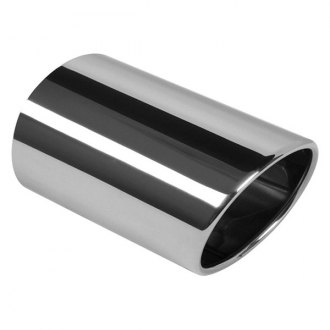 Eastern Exhaust® - Tap-on Stainless Steel Oval Body Inside Roll Angle Cut Outlet Exhaust Tail Pipe Tip