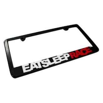 Eat Sleep Race® - Black License Plate Frame with Eat Sleep Race Logo