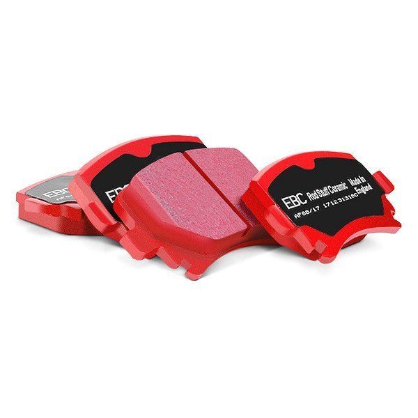 Image may not reflect your exact vehicle! EBC® - Redstuff Ceramic Low Dust Front Brake Pads