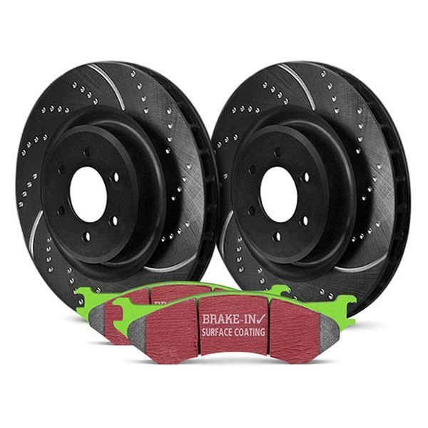 EBC® - Stage 3 Truck and SUV Dimpled and Slotted Front Brake Kit - New
