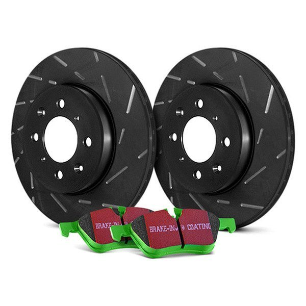 Image may not reflect your exact vehicle! EBC® - Stage 4 Signature Slotted Front Brake Kit - New