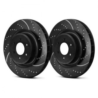 EBC® - 3GD Series Sport Dimpled and Slotted Vented 1-Piece Front Brake Rotors