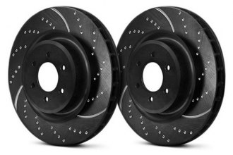 Image may not reflect your exact vehicle! EBC® - 3GD Series Sport Dimpled and Slotted 1-Piece Front Brake Rotors