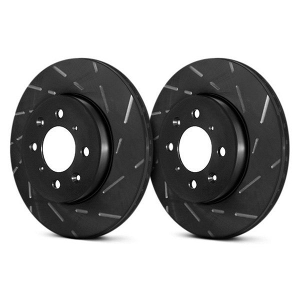 EBC® - USR BlackDash Series Sport Slotted 1-Piece Front Brake Rotors
