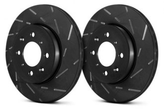 Image may not reflect your exact vehicle! EBC® - USR BlackDash Series Sport Slotted 1-Piece Rear Brake Rotors