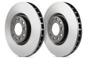Image may not reflect your exact vehicle! EBC® - RK Series Premium Plain 1-Piece Rear Brake Rotors