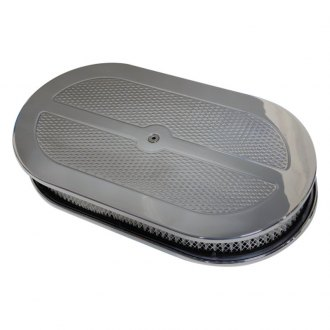 Eddie Motorsports® - Medium Billet Aluminum Diamond Series Oval Air Cleaner