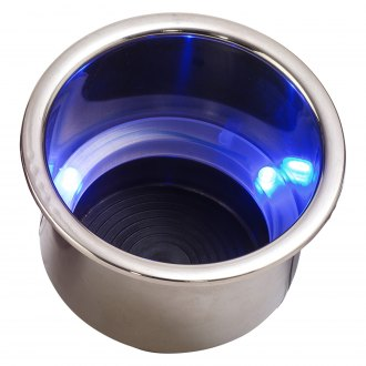 Eddie Motorsports® - Stainless Steel LED Lights Drink Holder