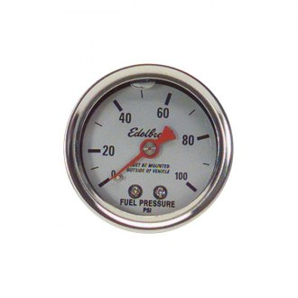 Edelbrock® - Glycerin Filled Fuel Gauge 0-100 PSI