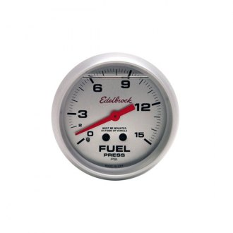 Edelbrock® - Glycerin Filled Fuel Gauge 0-15 PSI