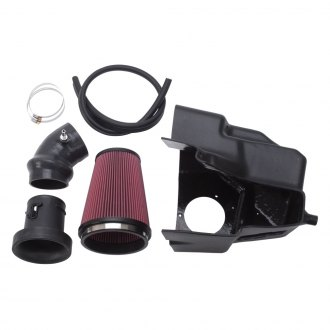 Edelbrock® - E-Force Competition Plastic Black Cold Air Intake System and Factory Mass Airflow Sensor with Red Filter