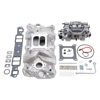 Edelbrock® - Single-Quad Intake Manifold and Carburetor Kit